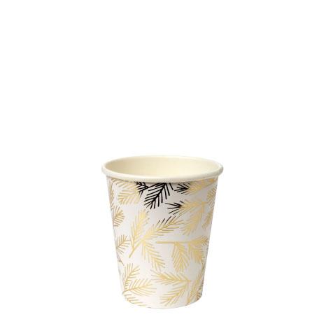 8 Gobelets brindilles dorées Meri Meri