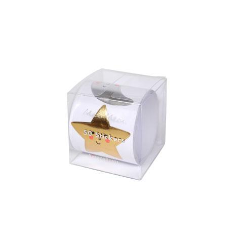 Rouleau de 50 stickers Etoiles et Lunes Meri Meri