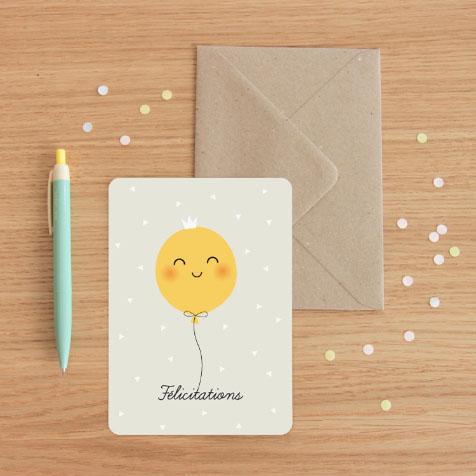 Carte postale Félicitations gris Zü