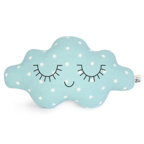 Petit coussin nuage Étoile bleu Zü