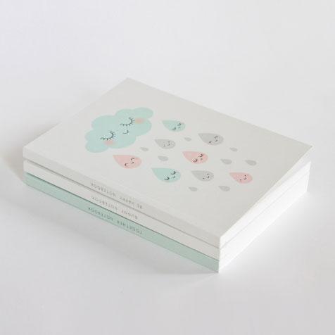 Carnet de note Be Happy blanc Zü
