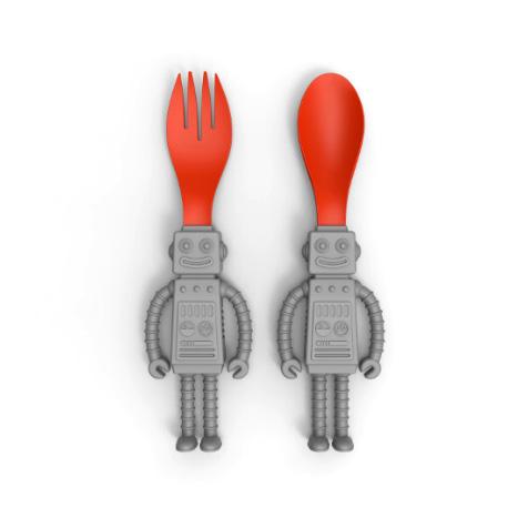 Ensemble de cuillère et fourchette robot Invotis
