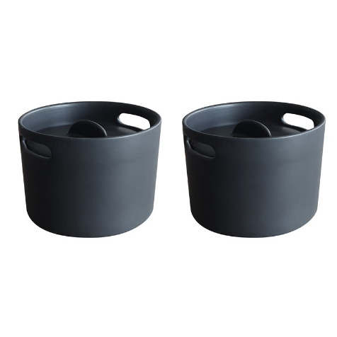 Set de 2 mini cocottes Eve noir Cookut