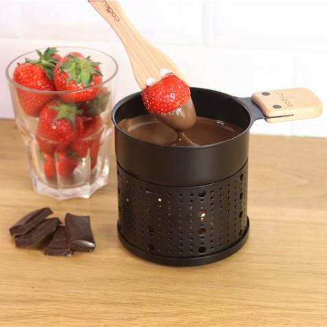 Fondue au chocolat à la bougie pour 2 à 3 personnes noir Cookut