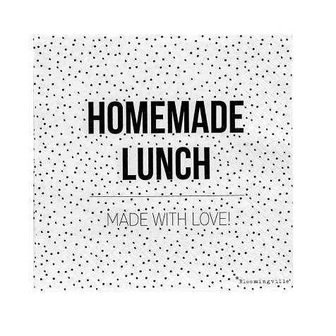 20 Serviettes en papier Homemade Lunch blanche Bloomingville