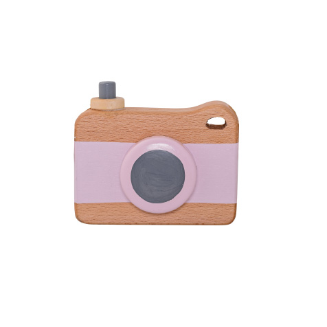 Appareil photo en bois rose Bloomingville
