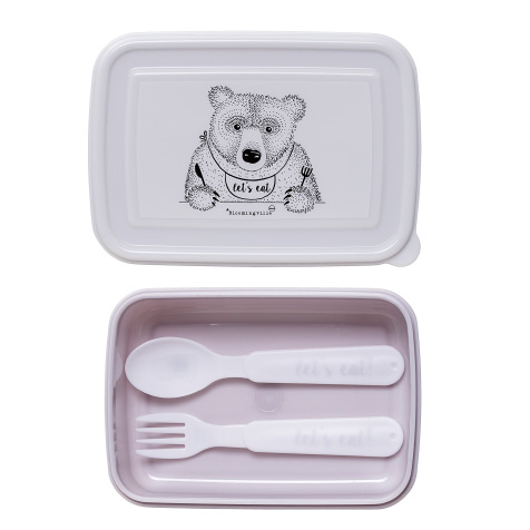 Lunchbox enfant Ours rose Bloomingville
