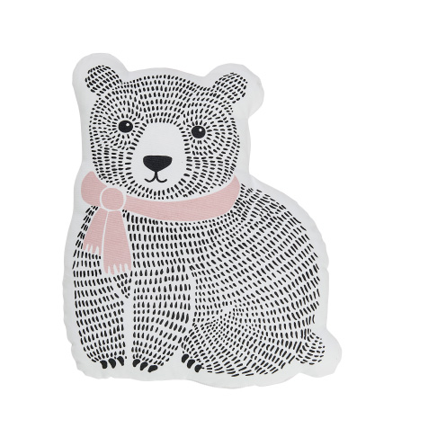 Coussin enfant ours rose Bloomingville