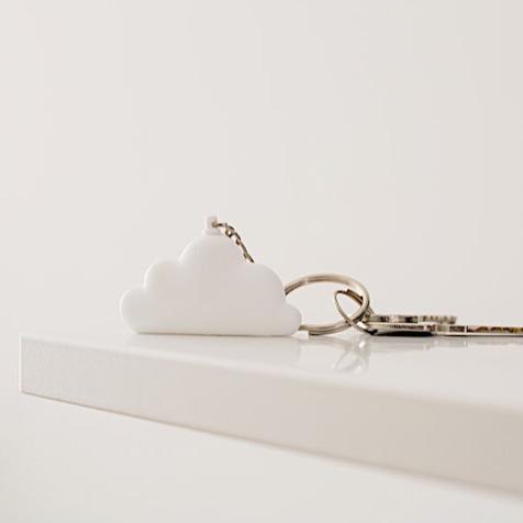 Porte clé nuage blanc Dreams Key Atelier Pierre