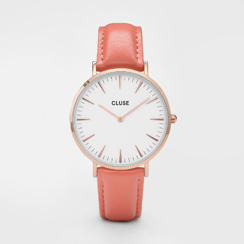Montre La Bohème Flamingo rose gold blanc Cluse