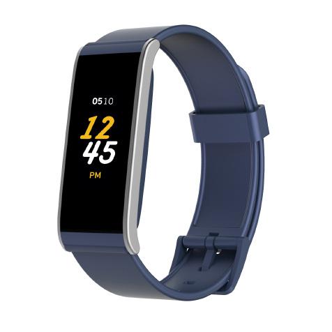 ZeFit 4 cadran argent bracelet bleu MyKronoz