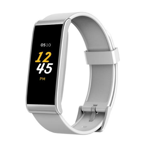 ZeFit 4 cadran argent bracelet blanc MyKronoz
