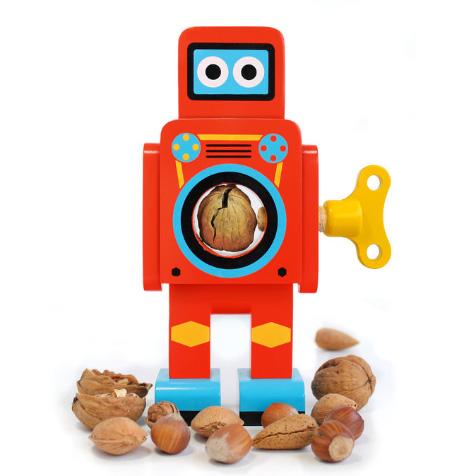 Casse noix en bois robot rouge Suck UK