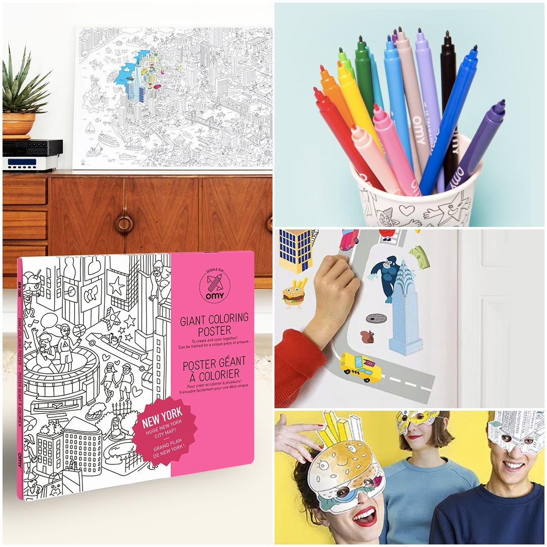 Kit Coloriage New York Omy