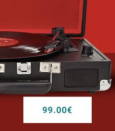 Platine vinyle Crosley Cruiser noir et rouge