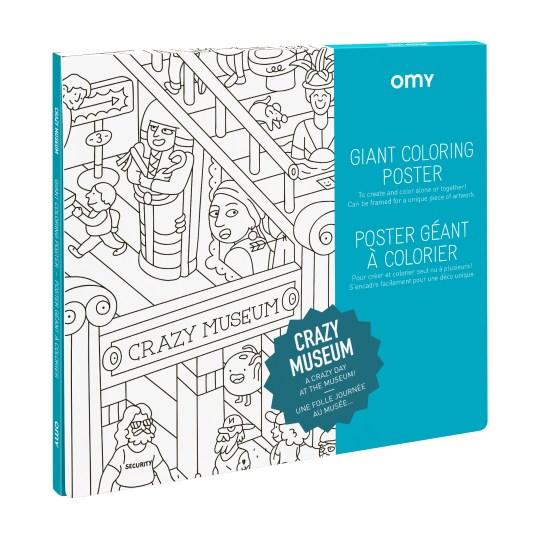 Poster Géant à colorier CRAZY MUSEUM by OMY