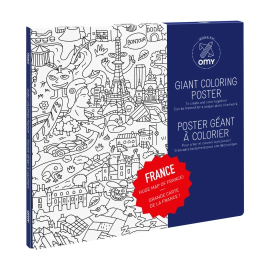 Poster géant à colorier FRANCE by OMY