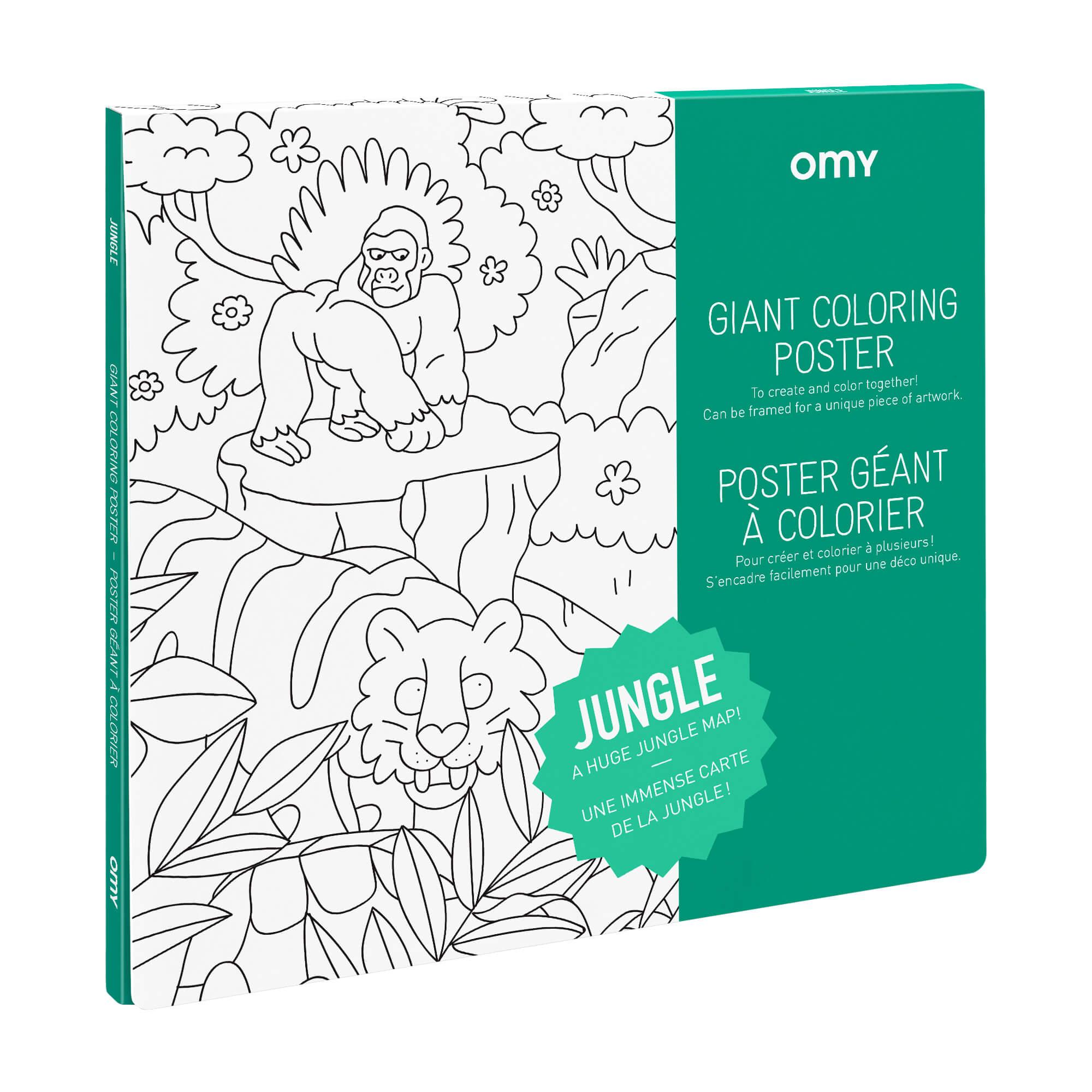 Poster Géant à colorier JUNGLE by OMY