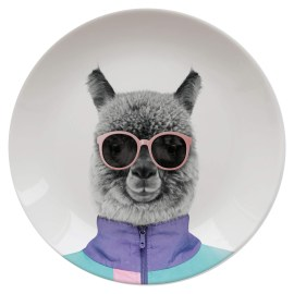 Assiette Wild Dining 23cm Andy Alpaca Just Mustard
