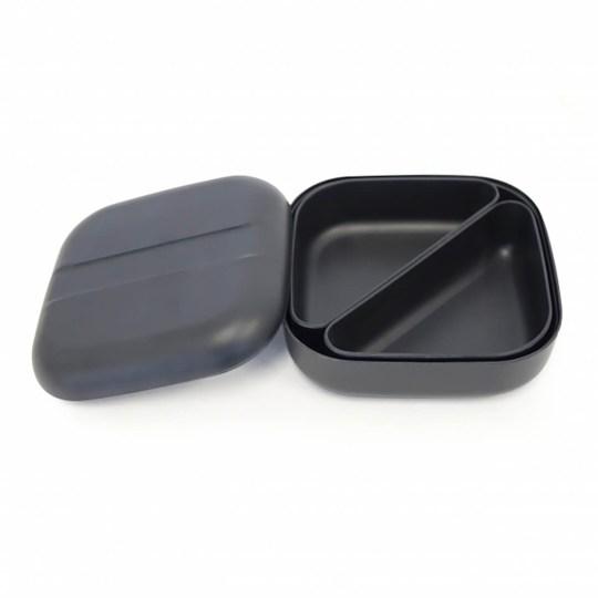Lunch box EKOBO type Bento en fibre de bambou - Noir