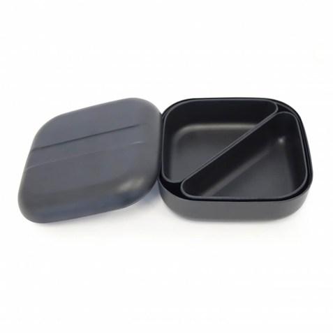 Lunch box EKOBO type Bento en fibre de bambou – Noir