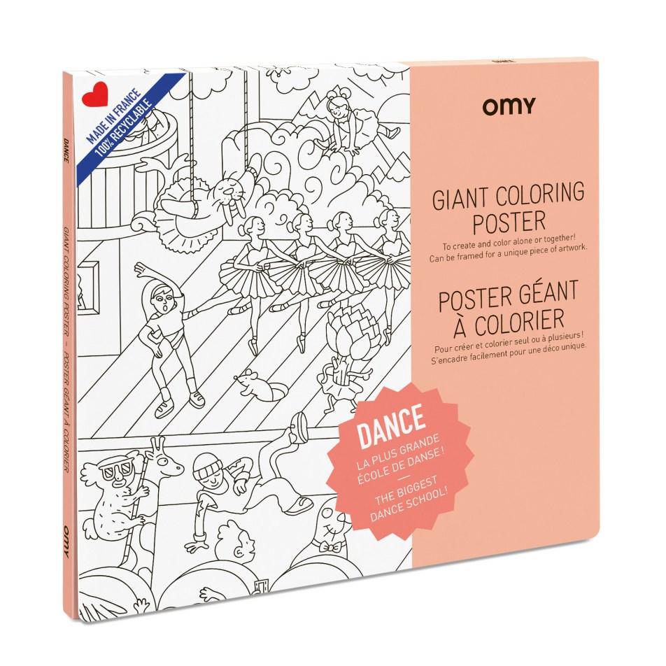 Poster Géant à colorier DANCE by OMY