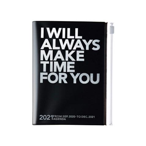 Agenda 2020-2021 Mark's Japan Clear storage A6 Argent et Noir – sep20 à déc21