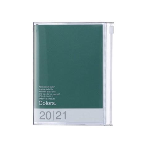 Agenda 2020-2021 Mark's Japan Colors A6 Vert – sep20 à déc21