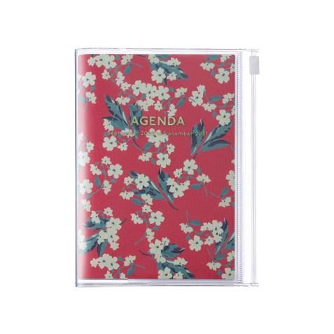 Agenda 2020-2021 Mark's Japan Flower pattern A6 Rose – sep20 à déc21