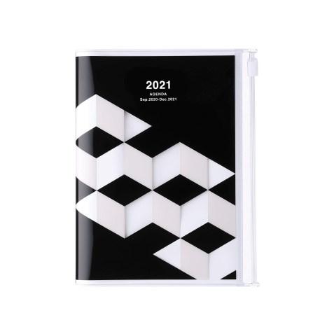 Agenda 2020-2021 Mark's Japan Geometric pattern A6 Noir – sep20 à déc21