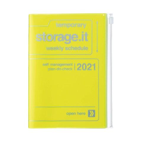 Agenda 2020-2021 Mark's Japan Storage.it B6 Jaune néon – oct20 à déc21