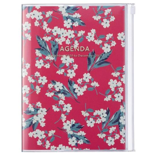 Agenda 2020-2021 Mark's Japan Flower pattern A5 Rose - sep20 à déc21