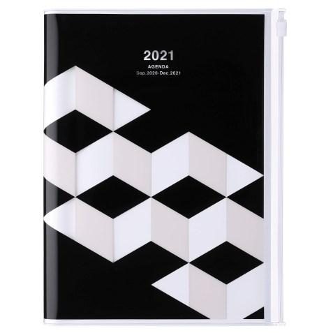 Agenda 2020-2021 Mark's Japan Geometric pattern A5 Noir – sep20 à déc21