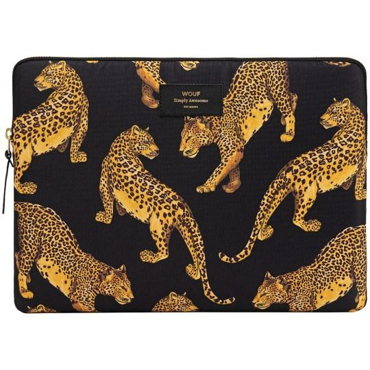 Housse WOUF pour ordinateur portable 15″ – Black Leopard