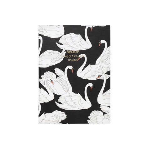 Cahier original ligné – Format A6 – Swan by WOUF