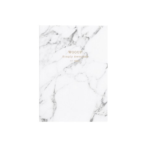 Cahier original ligné – Format A6 – White Marble by WOUF