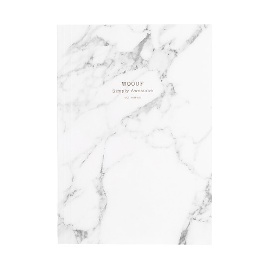 Cahier original ligné – Format A5 – White Marble by WOUF