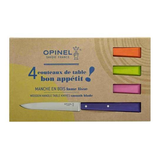 Bon Appêtit Pop – Coffret de 4 couteaux de table N°125 Opinel