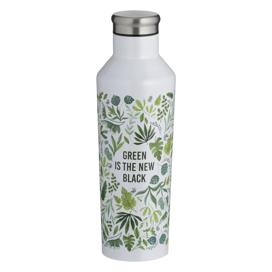 Bouteille isotherme à double paroi en inox 500ml – Green is the new black