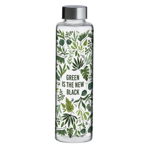 Bouteille en verre 600ml – Green is the new Black
