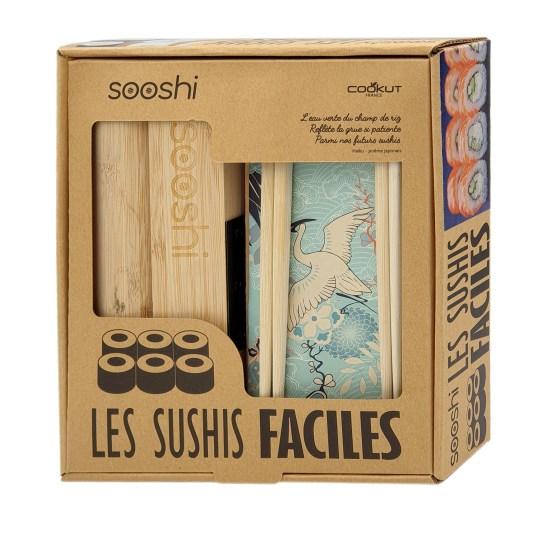 Coffret cadeau SOOSHI : kit de préparation, recettes et baguettes pour des sushis délicieux et faits maison