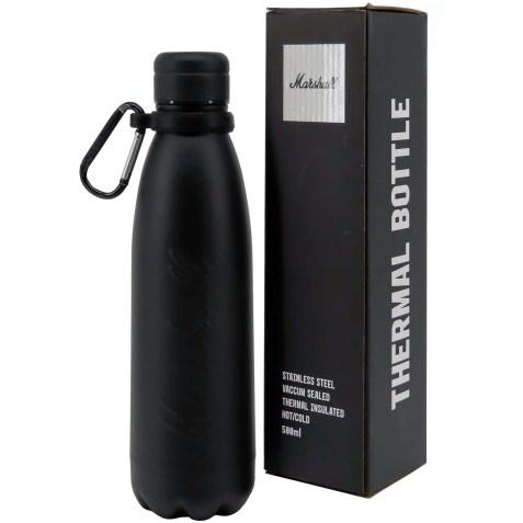 Bouteille isotherme en Acier Inoxydable Noir Mat