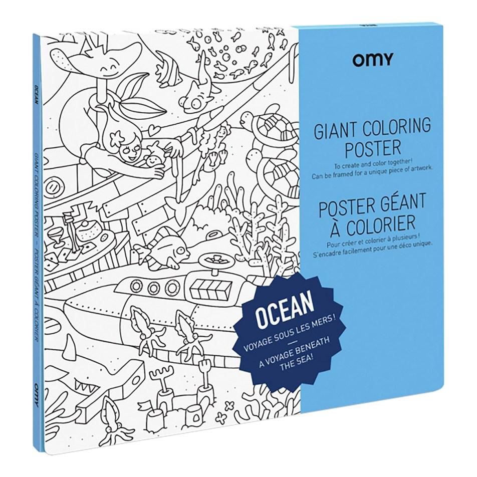 Poster Géant à colorier Sous l'Océan by OMY