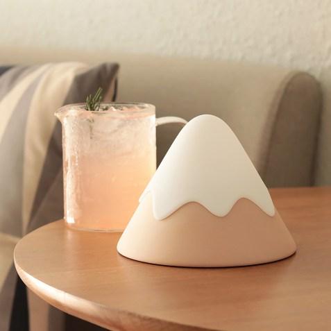 Lampe et veilleuse Rechargeable Snow Mountain Rose