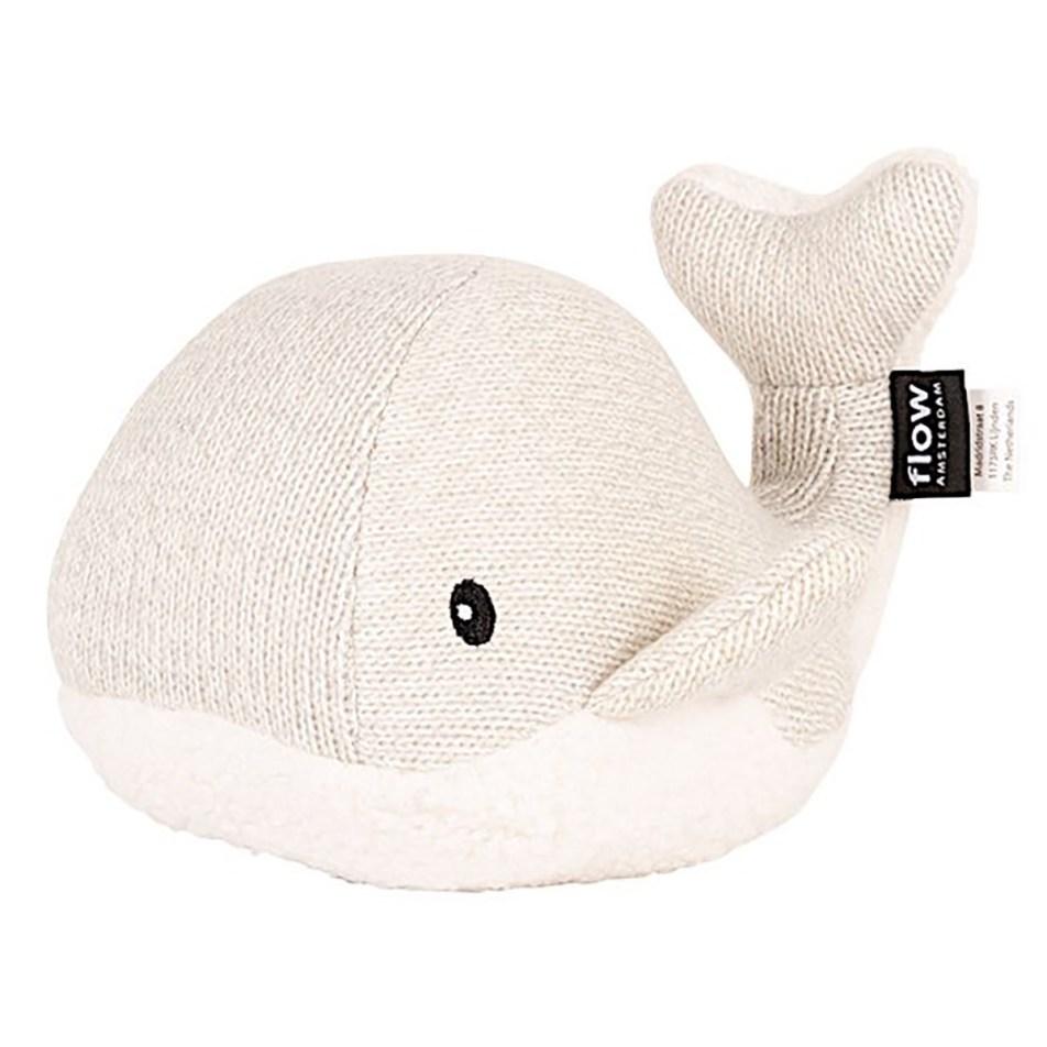 Peluche réconfortante Moby la baleine Grise