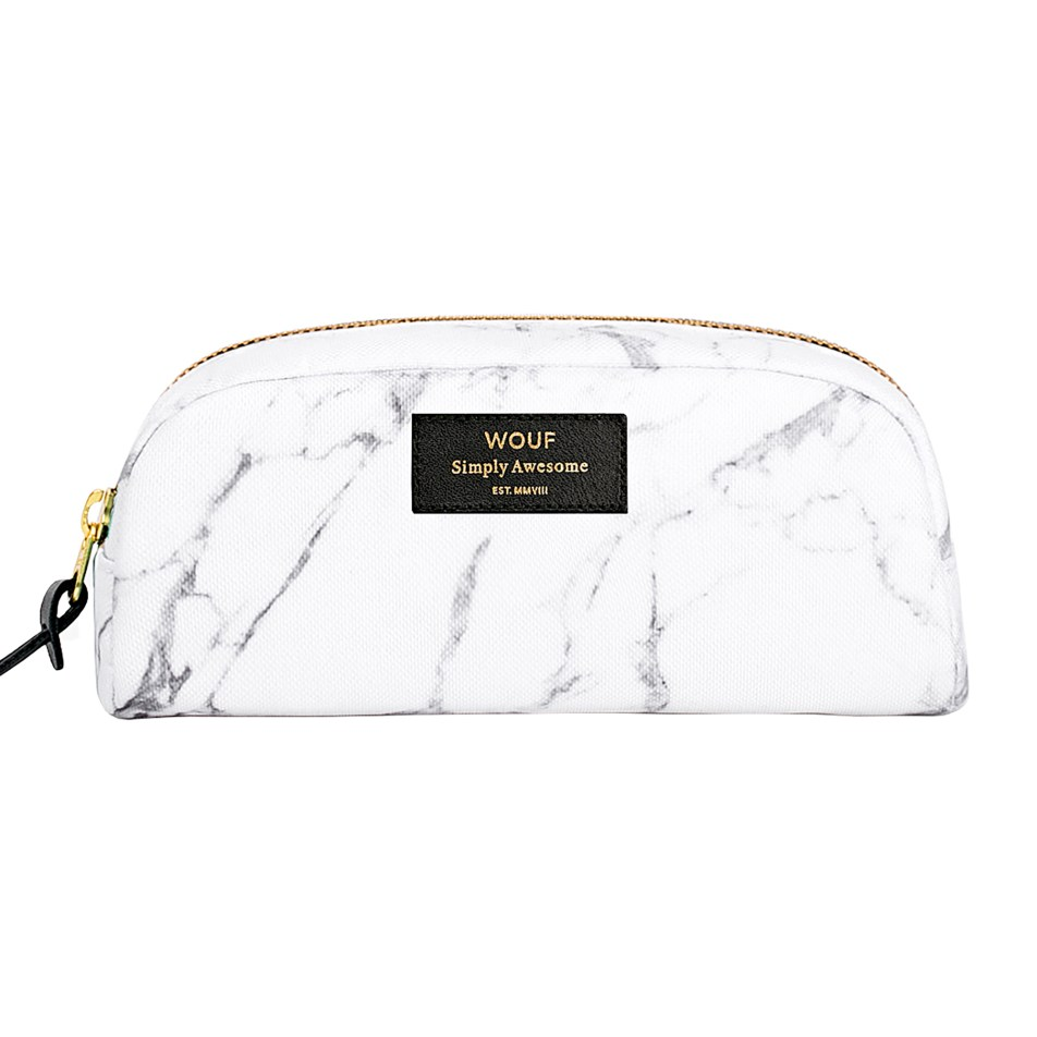 Petite trousse beauté White marble by WOUF