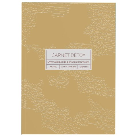 Carnet Détox Ocre – Journal A5 illustré