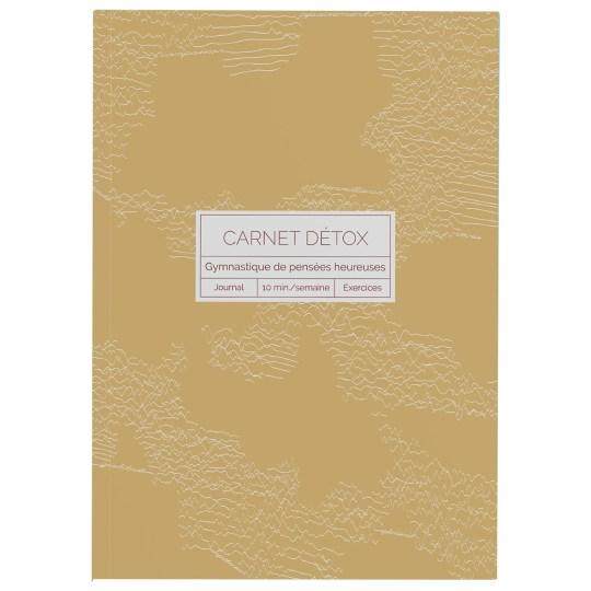 Carnet Détox Ocre - Journal A5 illustré