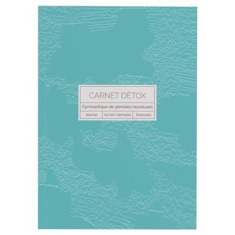 Carnet Détox Turquoise – Journal A5 illustré