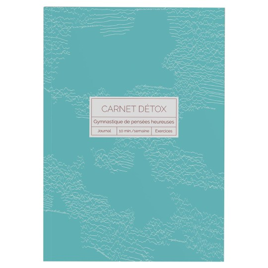 Carnet Détox Turquoise - Journal A5 illustré